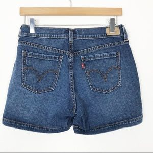 LEVI'S 515 Dark Denim Jean Shorts 4